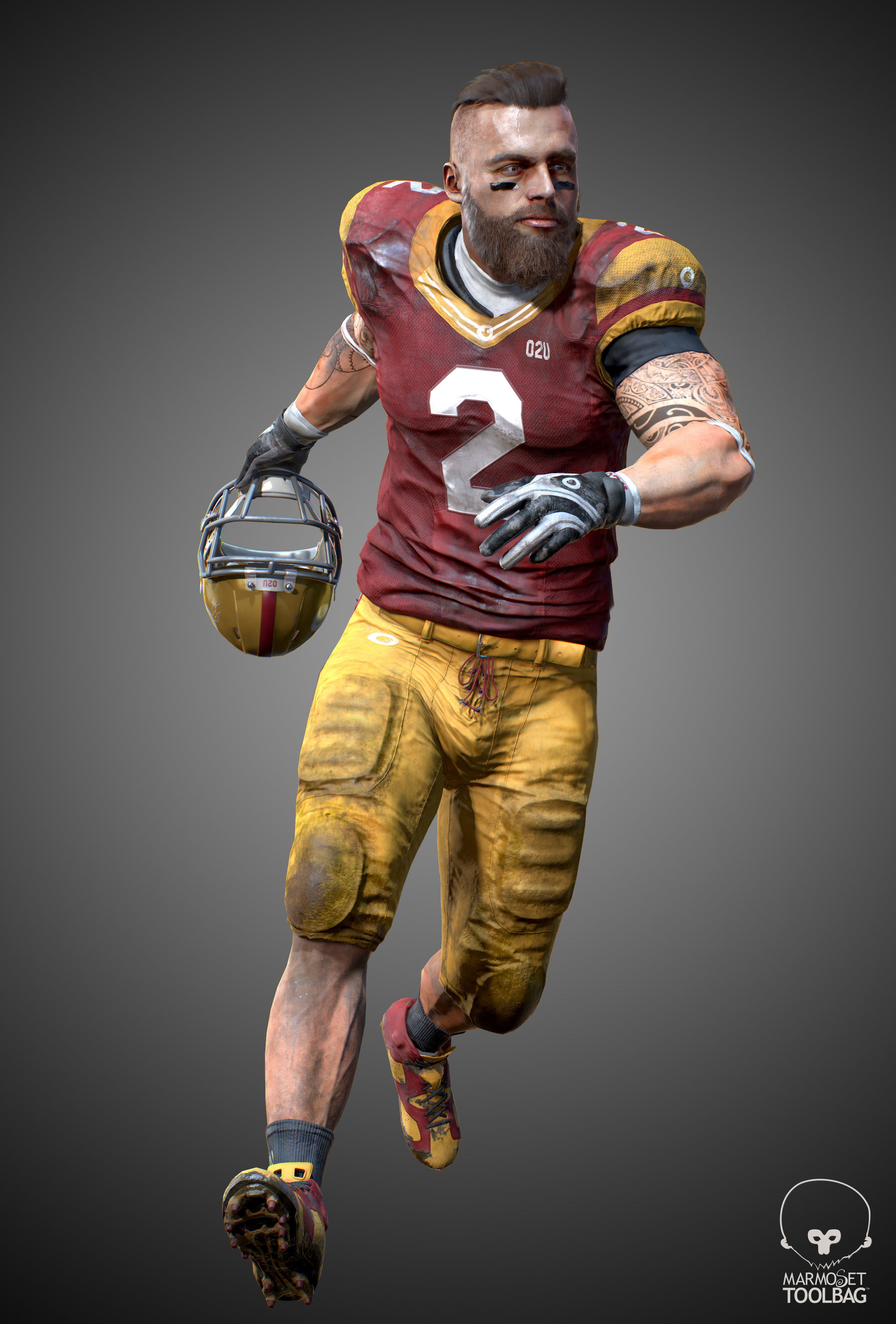American Football Player- ANimated