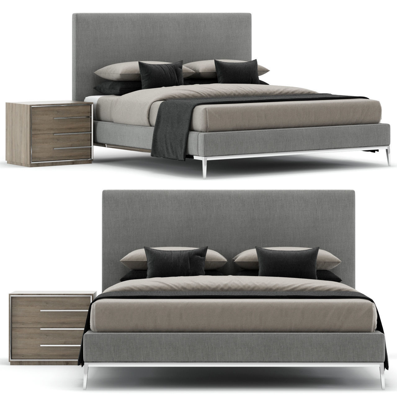modern tufted bed