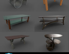 Coffee table set 3D office