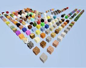 3D asset Block Set Minecraft
