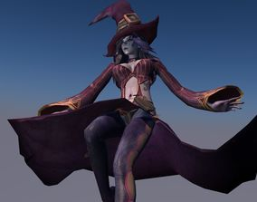 3D model Dark Witch Master Animated