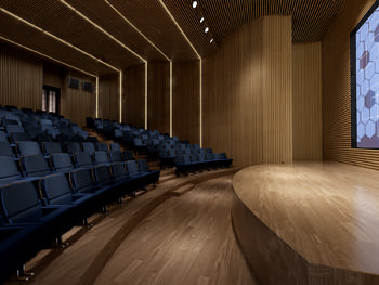 3d Model Wooden Private Cinema Hall Cgtrader