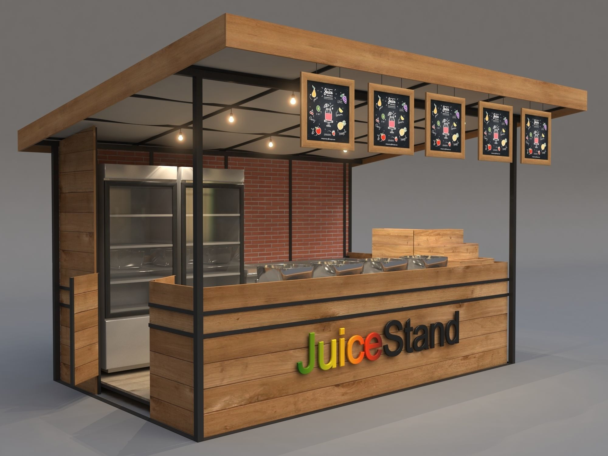 Juice Stand For Outdoor And Indoor Shopping Malls