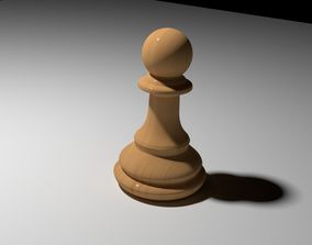 horse Chess Pawn Piece 3D Model