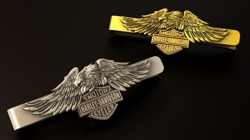 Harley Davidson Eagle tie clip