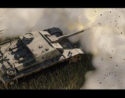 sturmgeschutz stug iii ausf f german anti tank spg 3d model