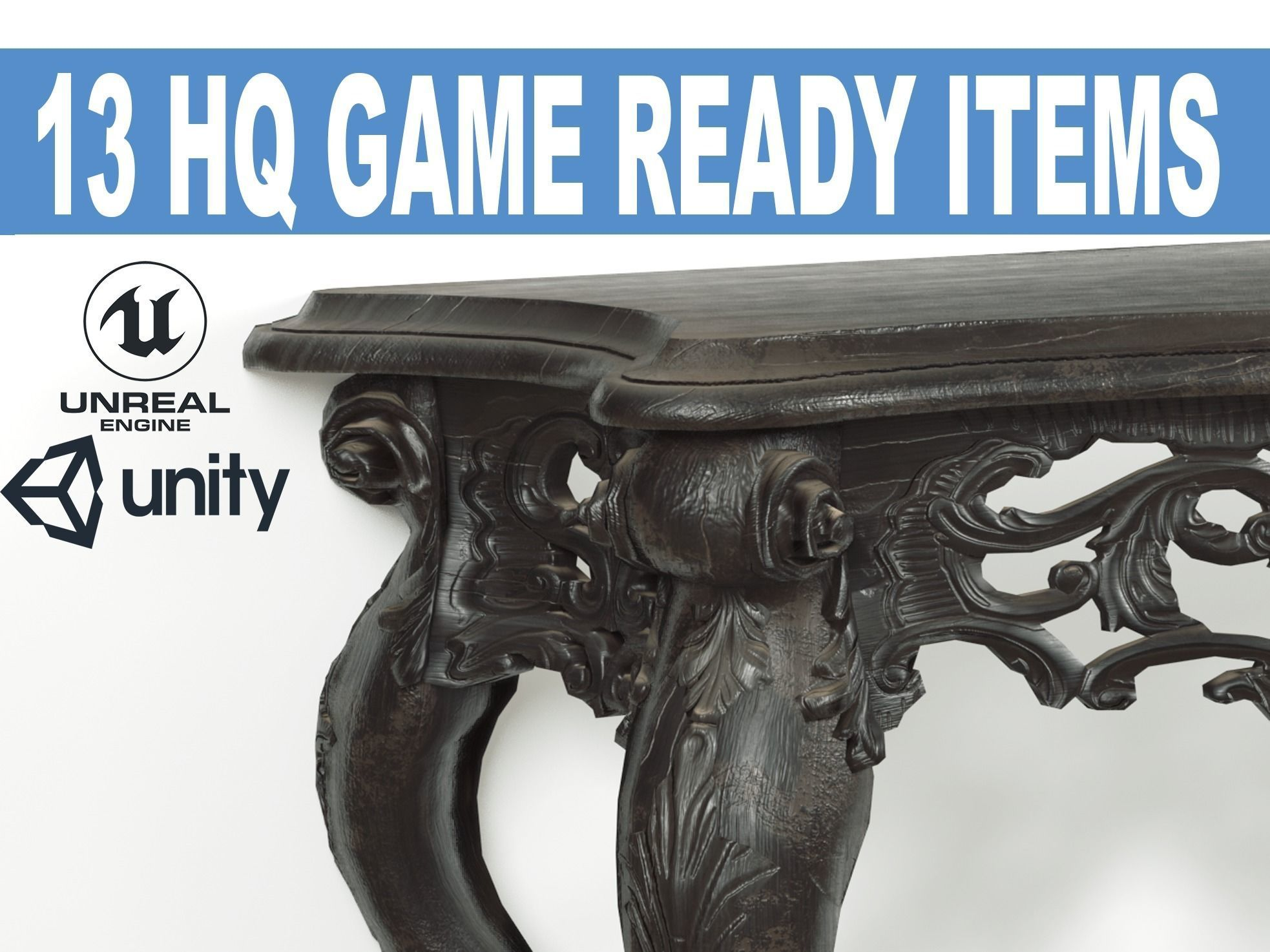 LUXURY Classic Furniture Collection Game models