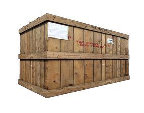 3D model Wood Cargo Box 3