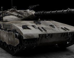 3D asset game-ready Merkava Tank