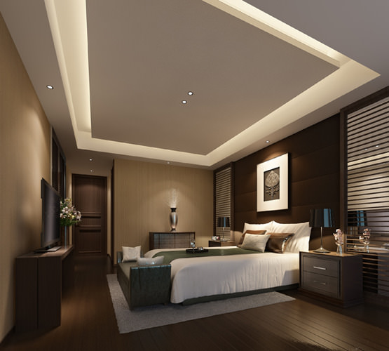 Hotel bedroom 3d model cgtrader for Bedroom designs 3d model