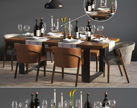 3D model Dinning Set 04