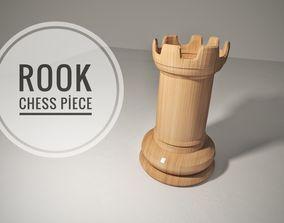 Chess Rook Piece 3D model