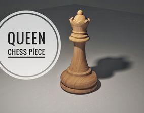 3D Chess Queen Piece