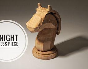 Chess Knight Piece 3D