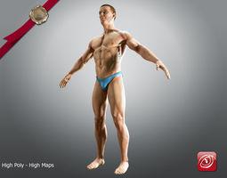 3d model sport man a