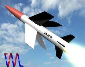 MGM-18A Lacrosse Missile 3D model