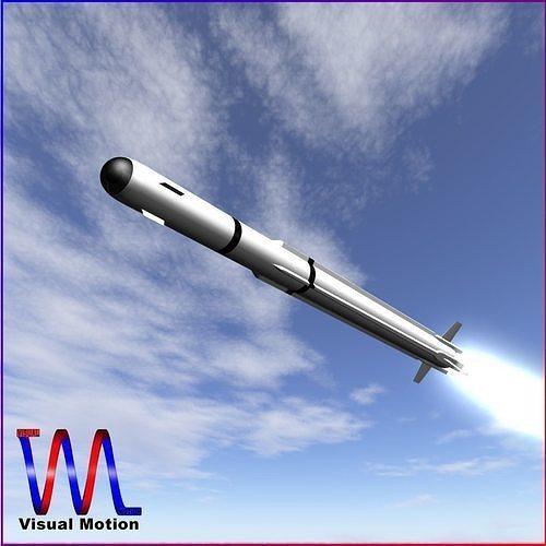 a-darter air-to-air missile 3d model obj mtl 3ds fbx dxf blend dae 1