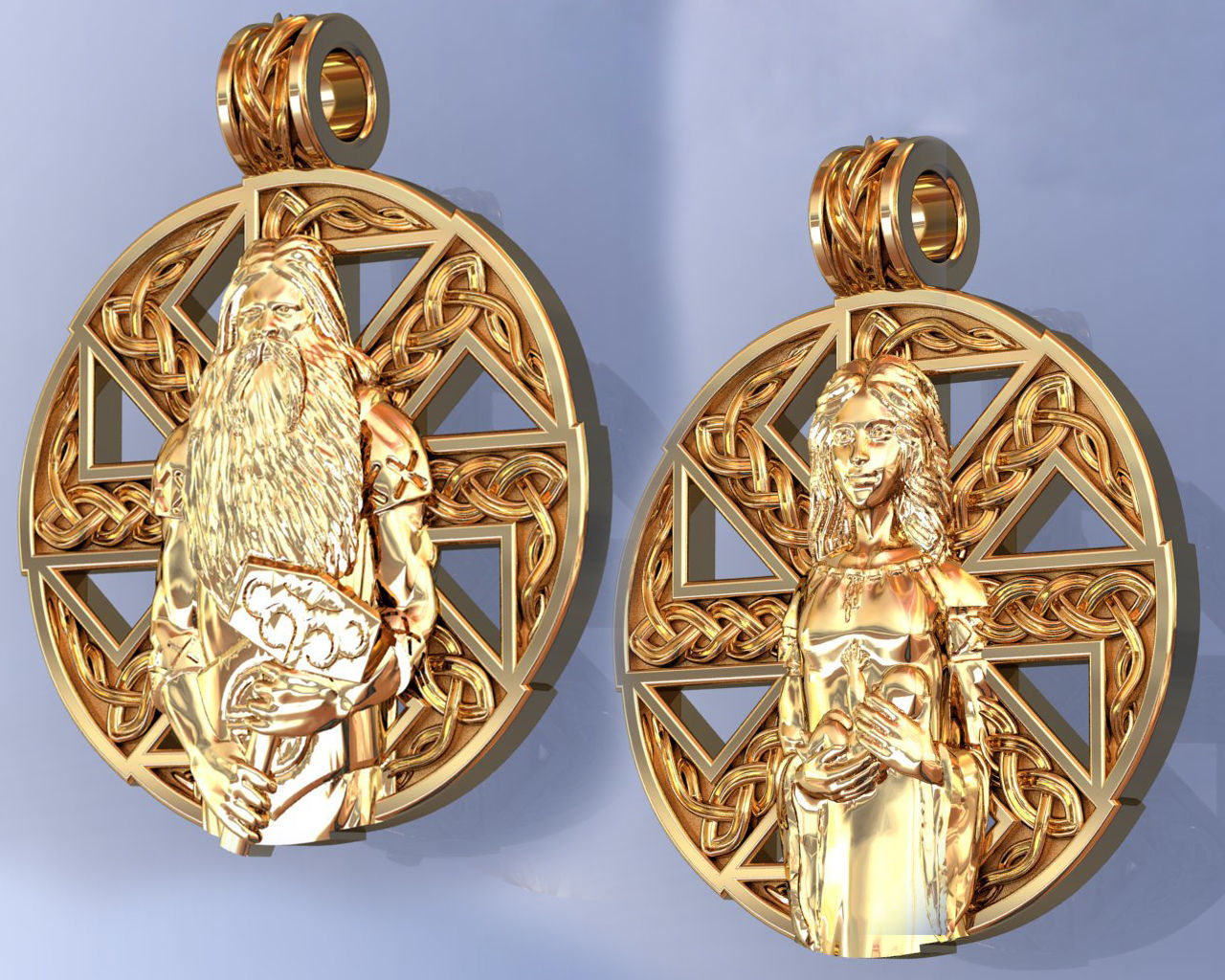 Slavic Amulet Pendant for Man and Woman Nordic Style