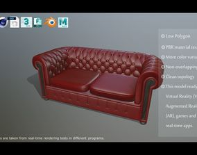 chesterfield sofa PBR model game-ready