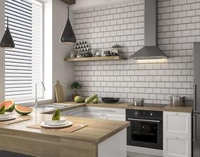 Kitchen Interiors Scene 06 3D model