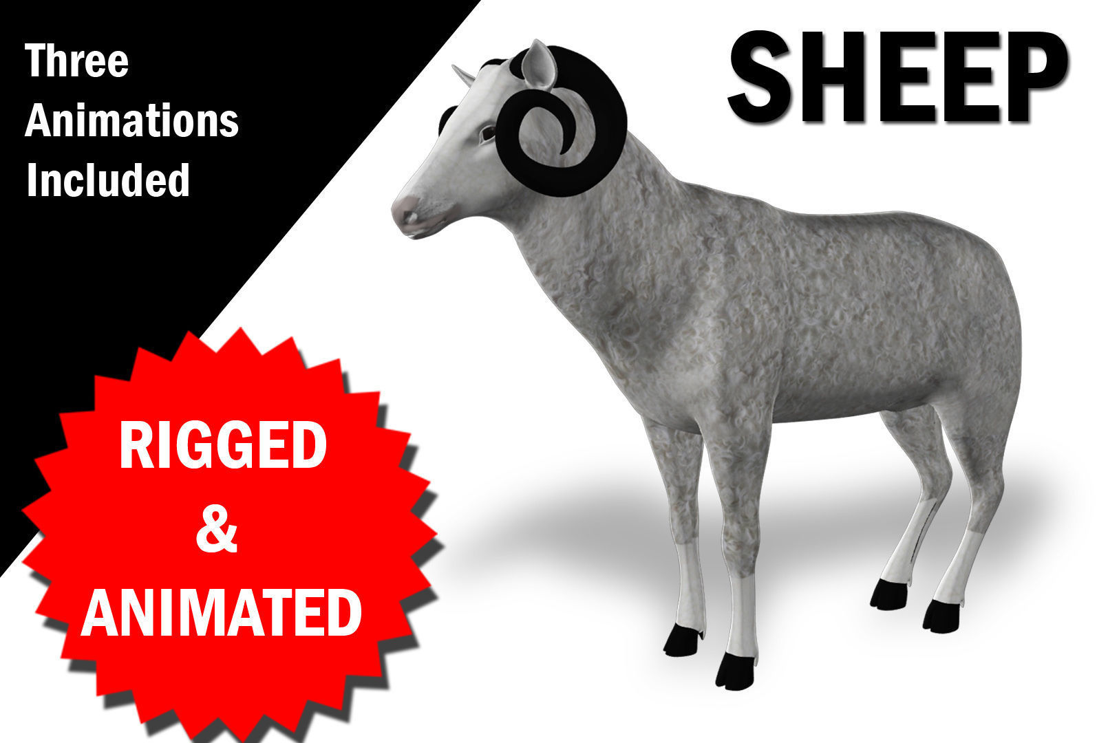 Sheep Rigged and Animated