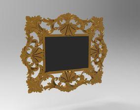 3D houseware baroque mirror