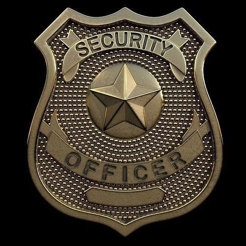 security officer badge 3d model max obj mtl stl 1