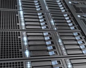 3D model Server Rack cloud