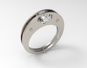 3D printable model Solitaire Diamond Ring