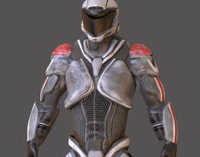 3D asset Sci fi Character
