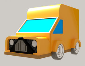 Cartoon car 3D print model