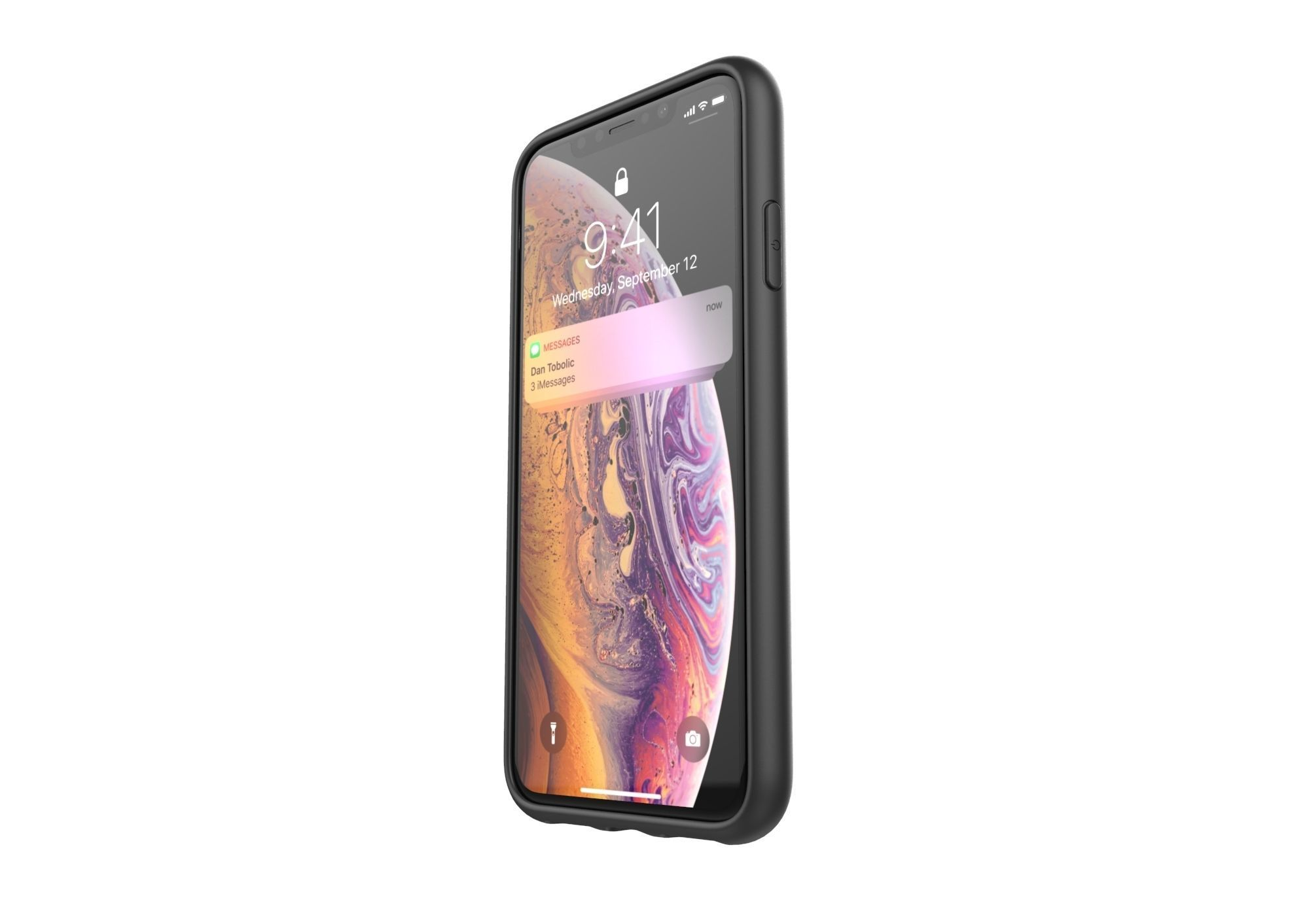 Realistic iphone XS Max black case design
