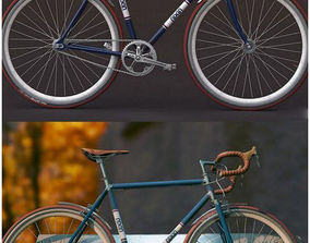 Bicycle 3D Design rigged