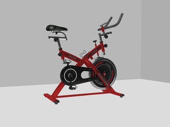 gym bike  a three-dimensional model of a large fitness machine 3d model max obj mtl 3ds fbx ms 1