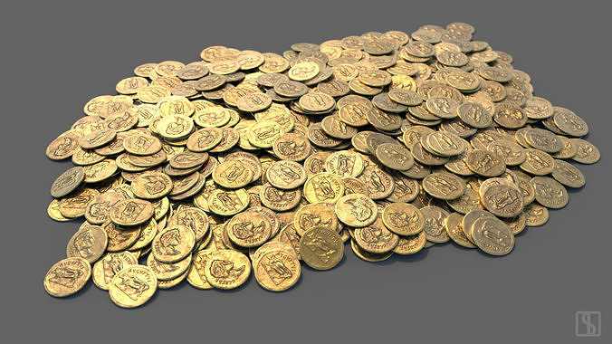 FREE  - Single Roman Gold Coin and Coin Stack