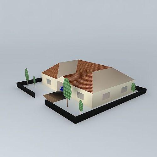 Basic house model cgtrader basic house model 3d model max obj 3ds fbx stl dae 1 ccuart Gallery