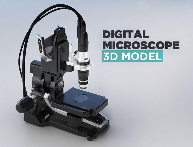 digital microscope 3d model max obj mtl fbx 1