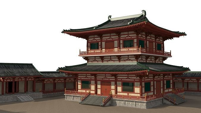 chinese palace  3d model max fbx 1