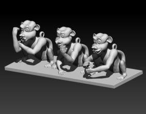 Three Rude Monkeys 3D print model