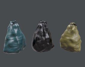 3D model low-poly Trash Bag