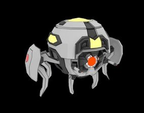 Low-poly Sphere Robot Laser Weapon 3D model