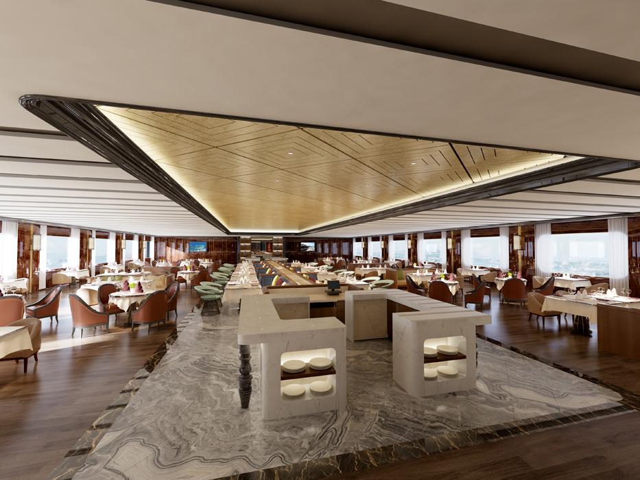 Modern hotel restaurant d model max cgtrader