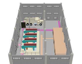 3D model sludge dewatering building