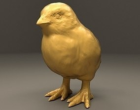Realistic Chick of Chicken 3D print model