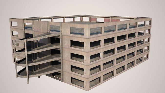 parking 3d model low-poly max obj mtl 3ds fbx 1