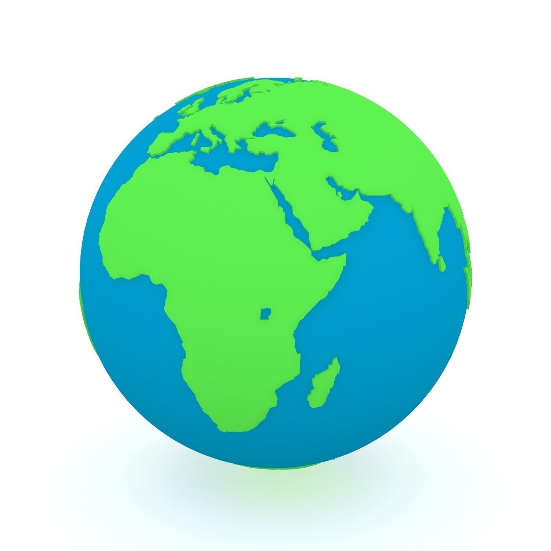 Earth Globe Green and Blue
