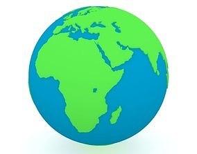 Earth Globe Green and Blue 3D model