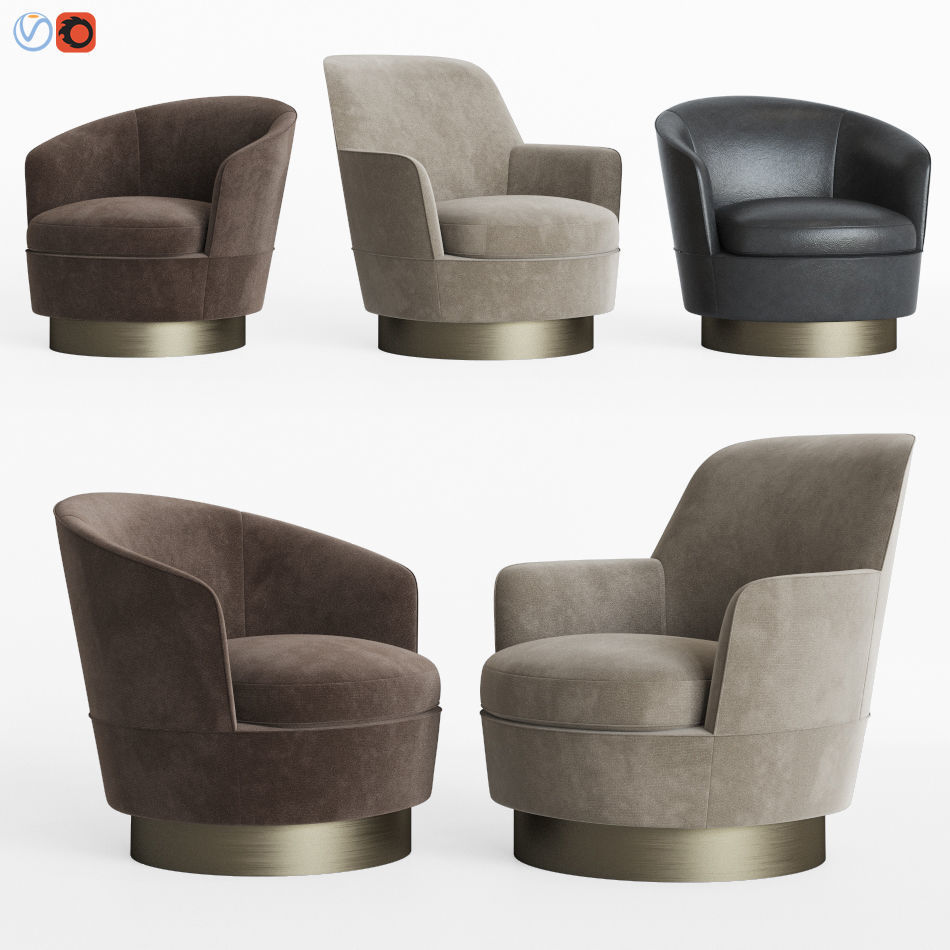 Minotti Jacques Low And High Armchair 3d Cgtrader