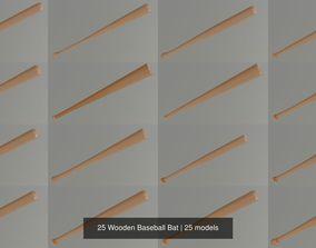 25 Wooden Baseball Bat 3D