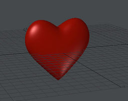 Heart 3D Model animated